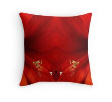 Orange Amaryllis Hippeastrum Close-Up Double Throw Pillow