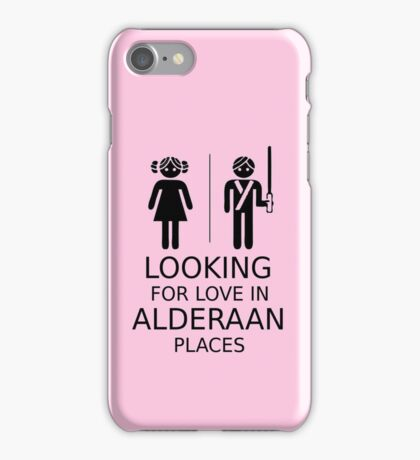 Looking for love in Alderaan places iPhone Case/Skin