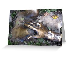 brass plate at oude kirk Greeting Card