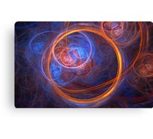 Rings of Oblivion - Ring Fractal Canvas Print