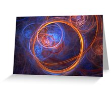 Rings of Oblivion - Ring Fractal Greeting Card