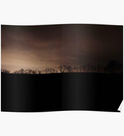 Cold Dark Night - Williams Grove, Pennsylvania Poster