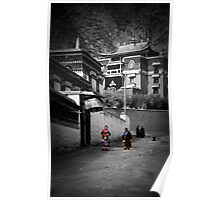 Nomad Women at Labrang Monastery Poster