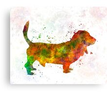 Basset Hound 01 in watercolor Canvas Print