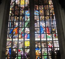 Oude Kirk stained glass by Darrell-photos
