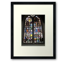 Oude Kirk stained glass Framed Print