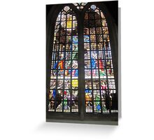 Oude Kirk stained glass Greeting Card