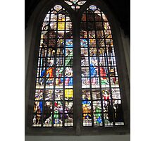 Oude Kirk stained glass Photographic Print