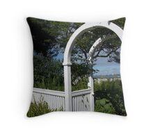 Gateway To The Sea Throw Pillow