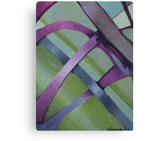 CB Abstract Art Purple Canvas Print