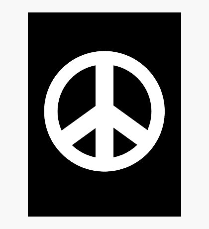 Peace Sign Symbol Dark T-Shirt Photographic Print
