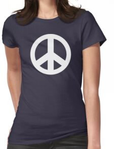 Peace Sign Symbol Dark T-Shirt Womens Fitted T-Shirt