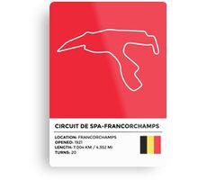 Circuit de Spa-Francorchamps - v2 Metal Print