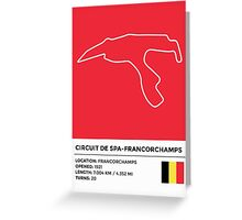 Circuit de Spa-Francorchamps - v2 Greeting Card