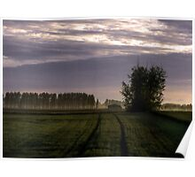 english coutryside eary morning Poster