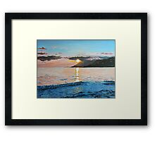 Golden Sunset Framed Print