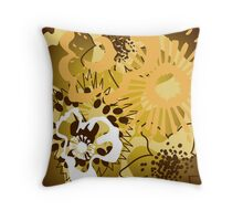 Warm Earth Floral Pattern Version 2 (see description) Throw Pillow