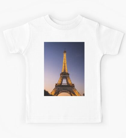 Eiffel Tower and sunset (2) Kids Tee
