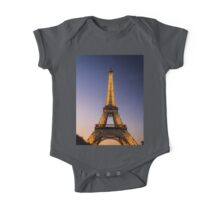 Eiffel Tower and sunset (2) One Piece - Short Sleeve
