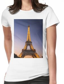 Eiffel Tower and sunset (2) Womens Fitted T-Shirt