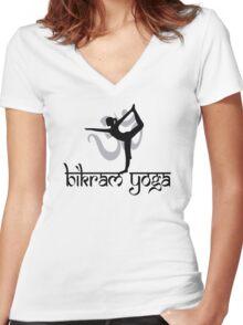 Bikram Yoga Women's Fitted V-Neck T-Shirt
