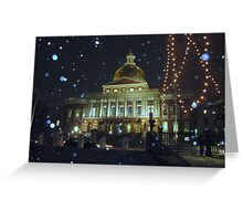 Massachusetts State House Greeting Card