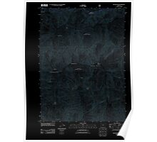 USGS Topo Map Oregon Silver Peak 20110713 TM Inverted Poster