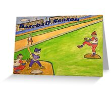 Baseball Season Greeting Card