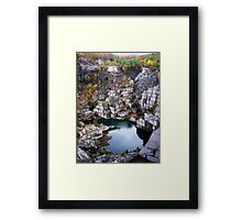 Down In The Quarry Framed Print