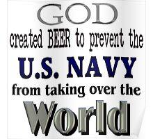 God, Beer & the U. S. Navy Poster