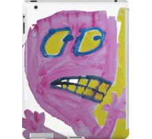 Toby - Pink Graphic Face iPad Case/Skin