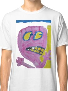Toby - Pink Graphic Face Classic T-Shirt