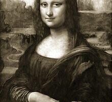 Dithering Mona Lisa by JimPlaxco