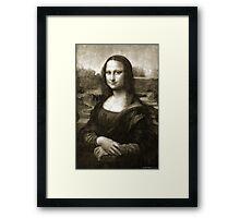 Dithering Mona Lisa Framed Print