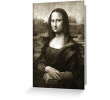 Dithering Mona Lisa Greeting Card