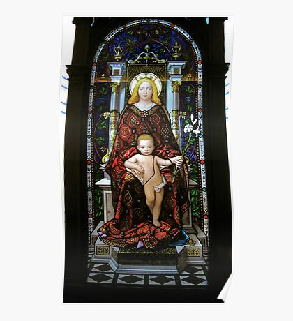 Mary and baby Jesus Poster
