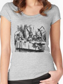 The Mad Hatter's Tea Party Women's Fitted Scoop T-Shirt