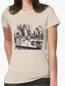 The Mad Hatter's Tea Party Womens Fitted T-Shirt