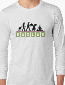 Funny Men's Yoga Long Sleeve T-Shirt