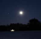 """Moon over Waveny by Christine """"Xine"""" Segalas"""