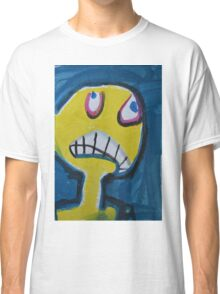 Troy - Graphic Yellow Face With Blue Background Classic T-Shirt