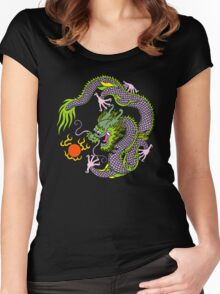 Chinese Dragon T Shirt Women's Fitted Scoop T-Shirt