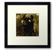 Toothless the night fury Framed Print