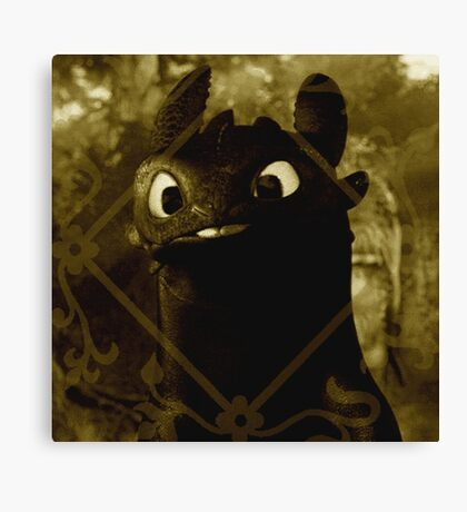 Toothless the night fury Canvas Print