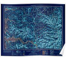 USGS Topo Map Washington Hoquiam 707402 1953 250000 Inverted Poster