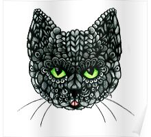 Ornate Russian Blue Poster
