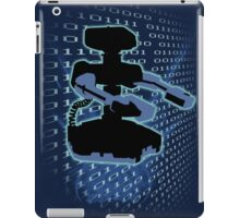 Super Smash Bros. Cyan/Light Blue ROB Silhouette iPad Case/Skin