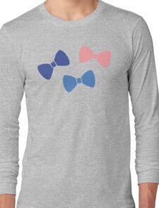 Vintage Pastel Bows Long Sleeve T-Shirt