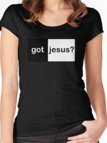 "Christian ""got jesus?""  Women's Fitted Scoop T-Shirt"
