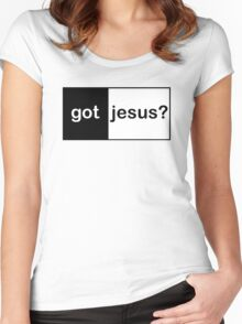 "Christian ""got jesus?""  Women's Fitted Scoop T-Shirt"
